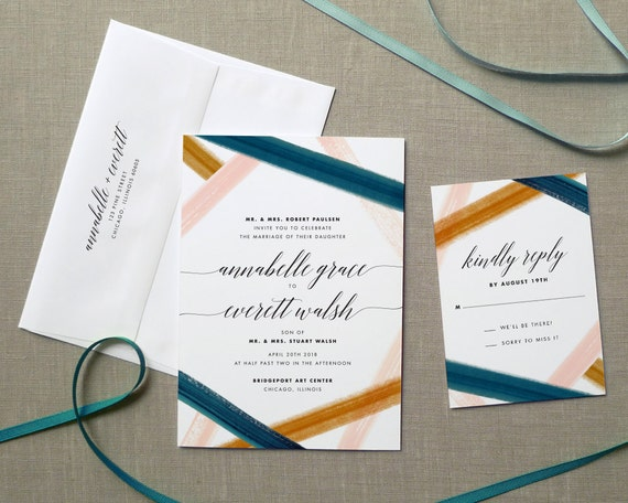 modern wedding invitation simple wedding invitation rustic