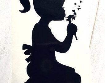 DIY Make a Wish on a Dandelion Vinyl Decal, Dandelion Seeds, Blow Away Seeds, Laptop Decals, Tablets Decals, Car Window Decals, Wish