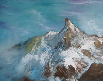 """Original Painting 40x50 cm Oil on Canvas """"small mountains"""""""