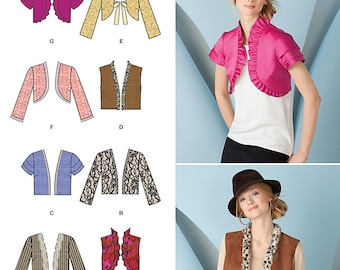 OUT of PRINT Simplicity Pattern 1780 Misses Jacket and Vest