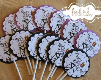 Jack Skellington from Nightmare before Christmas Cupcake Toppers