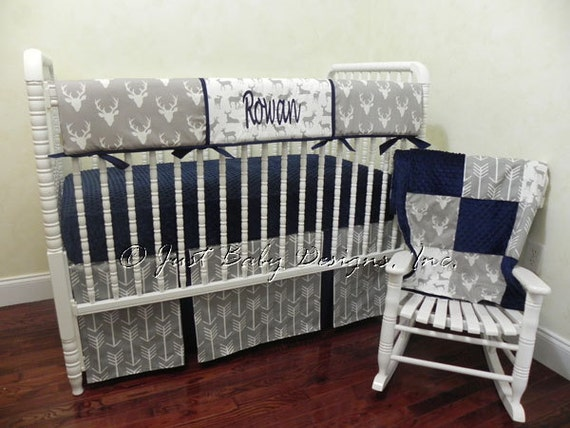 Baby Boy Bedding Set Rowan Boy Crib Bedding Crib Rail