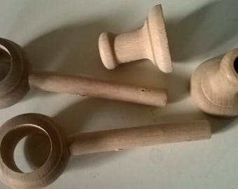282) pair of wall brackets for curtain rod