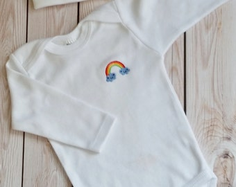 Rainbow Baby Boy Coming Home Outfit Newborn Rainbow Baby Boy Hat Personalized Gown or Bodysuit and Cap