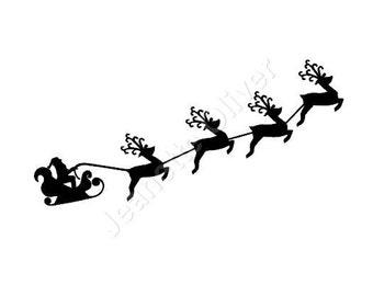 Santa's Sleigh SVG Digital Cutting File