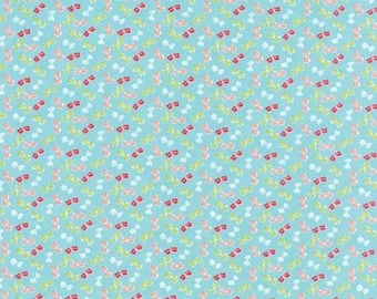 Calico - Moda Fabric - Little Ruby Florals by Bonnie & Camille Aqua 55135 12 - Quilts - Quilting - Dresses - Crafts