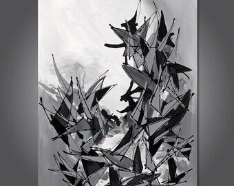 Grey Matter  Original abstract painting