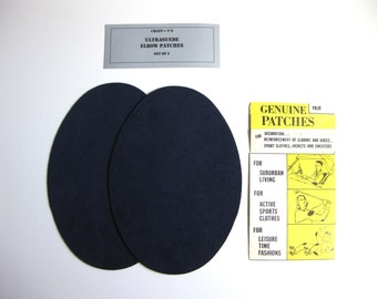 Elbow Patches -  Navy Blue Ultrasuede - Set of 2