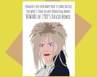 Baby card - David Bowie Labyrinth - Beware of 1980s Bowie