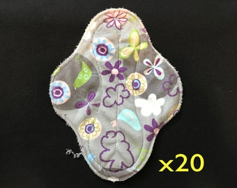 20-pack cloth pad making kit, unfinished, regular length medium flow, Serendipity