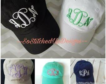 Ladies monogrammed baseball caps,  Womens Baseball Hats, Personalized baseball hats, Embroidered monogrammed baseball Caps, Gifts for girls