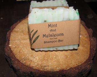Mint and Melaleuca (Tea Tree) Shampoo Bar