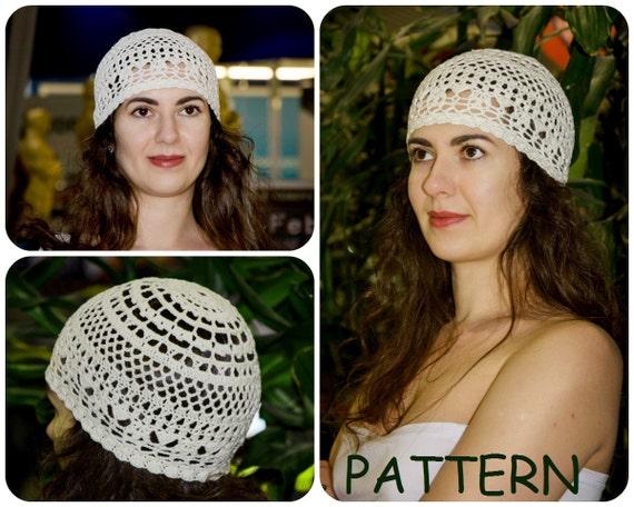 Sun Hat Pattern Retro Hat Crochet Pattern Lace Crochet Pattern