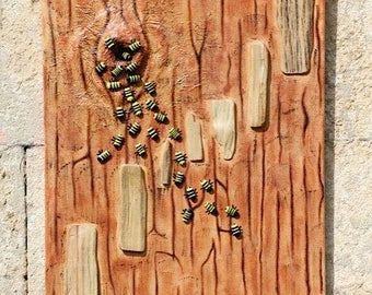 Bees in the Wood - Acrylic Painting