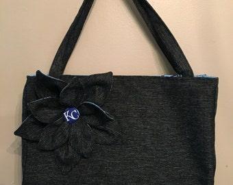 Handmade KC Royals Cut-out flower Handbag