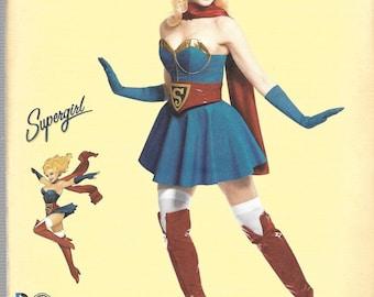 Dc Comics Bombshells SUPER GIRL Simplicity Pattern 8185 Misses Sizes 14 16 18 20 22