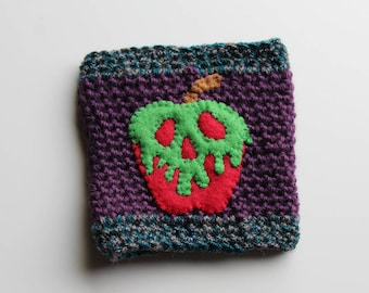 Disney Snow White Poison Apple Crochet Coffee Cozy