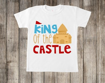 King of the Castle Sand Castle Beach Little Kids T-shirt or Baby Onesie