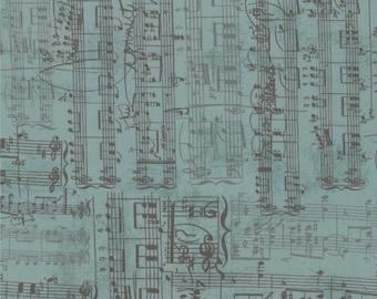 Moda - Sweet Serenade by Basic Grey Sheet Music in Turquoise 30343-15 Fat Quarter