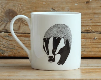 Badger china mug