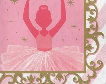 Twinkle Toes Luncheon Napkins-Set of 16-NEW-2ply