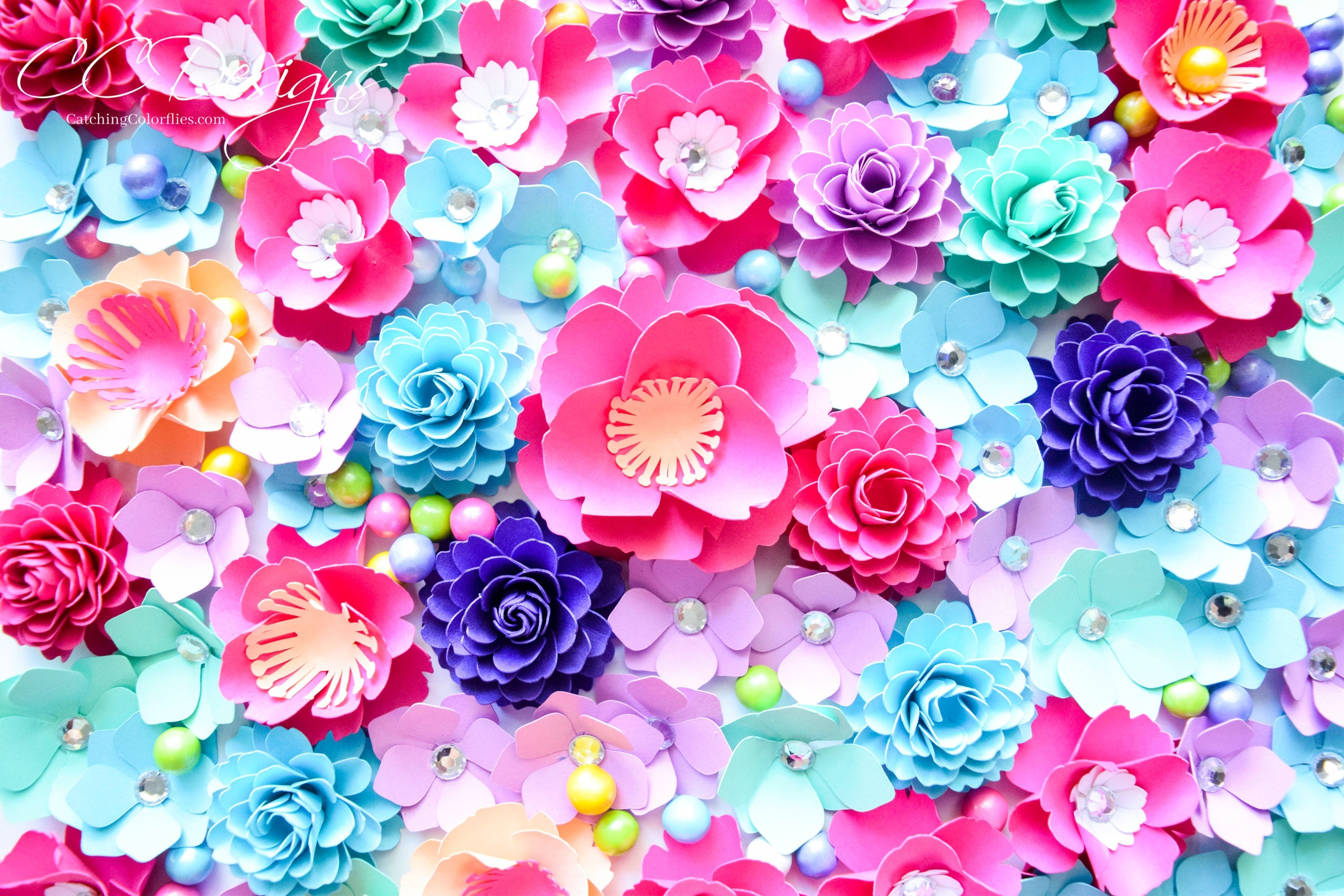 small paper flowers paper flower svg cut files pink paper