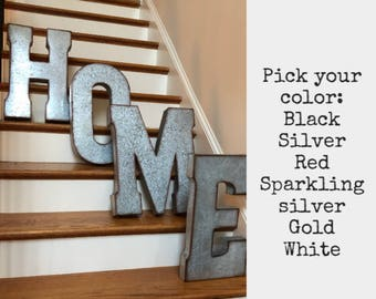 Extra Large Metal Letters/PICK COLOR/ Galvanized Metal Letters/Wall Letters/XXL Business letters/20 inch metal letters/Wall letters