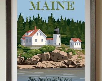 Bass Harbor Lighthouse Print