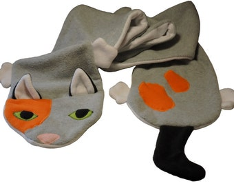 Calico Cat Fleece Scarf