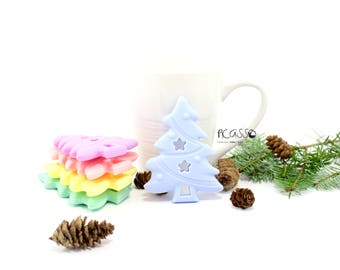 Teether CHRISTMAS TREE food silicone, baby, chew toy, shower gift, Breastfeeding, Chewing pendant, Toy teether, pendant, Christmas gift, DIY