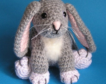 Pdf Crochet Pattern LITTLE GREY BUNNY (English only)