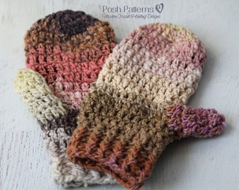 Crochet Pattern - Easy Crochet Mittens Pattern - Mitten Crochet Pattern - Crochet Patterns for Women - Crochet Patterns for Ladies - PDF 421