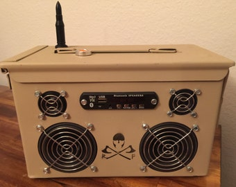 Ammo Can Rechargeable Stereo Boombox V.2.5 - Tan
