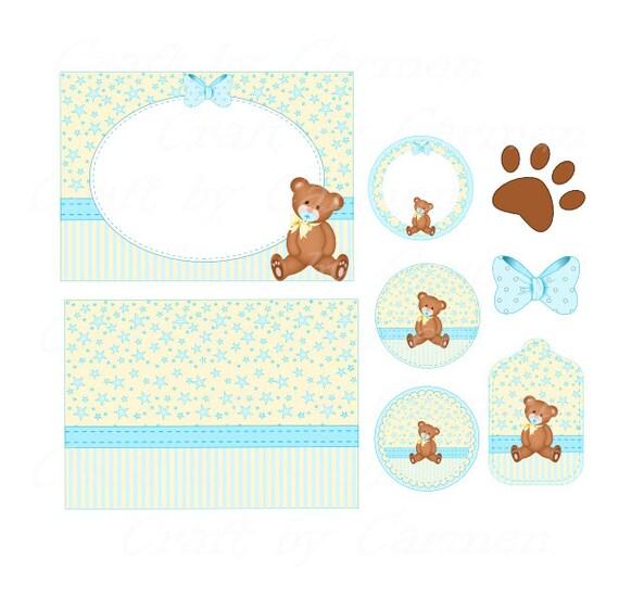 Teddy bear invitation birthday invitations baby shower
