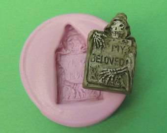 Tombstone Mold Silicone Cemetery Headstone Molds WhysperFairy PMC Clay Polymer Clay Wax Soap Embed Molds