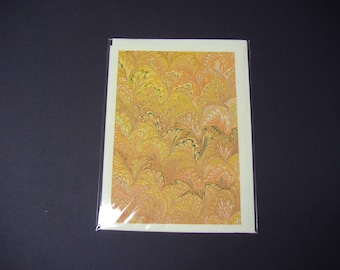 """Hand Marbled paper Cards - 5"""" x 7"""""""