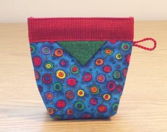 Quilted Snap Bag (SB610) Circles