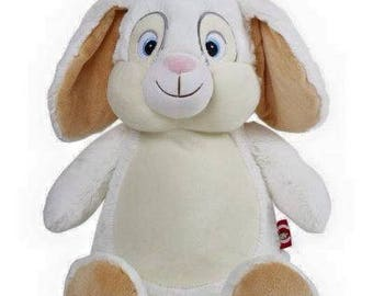 Personalised White Bunny rabbit embroidered with your design