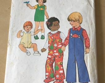 Simplicity #7322 - Size 1 Toddlers' Jumpsuit in Two Lengths and Shirt Pattern