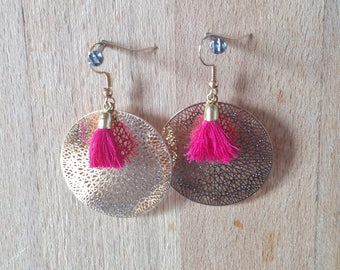 Earrings ethnic and chic Mathilde - Golden