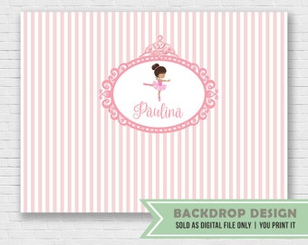 Ballerina Party Backdrop // Pink Ballerina Birthday Party Backdrop