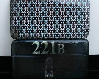 Sherlock Wallet Sherlock Holmes Wallet Literature Wallet 221b Baker Street Book Wallet Book Clutch Detective Wallet Book Lover Gift
