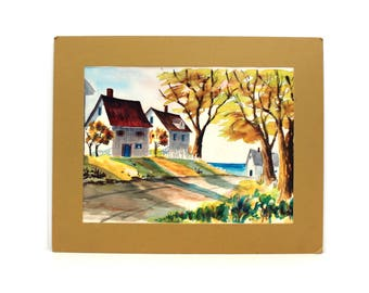 Autumn Time watercolor painting by Oris G. Turley