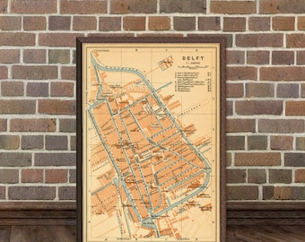 Old map of Delft - Fine  archival print - Delft map