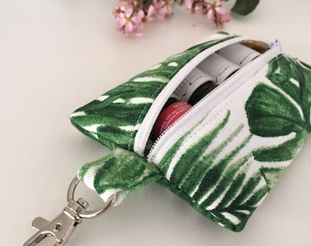 Tropical Essential Oil Keyring - Essential Oil Pouch - Essential Oil Zip Pouch - Essential Oil Purse