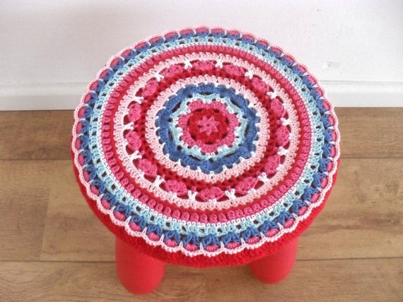 Ikea Mammut Stool Cover Crochet Pattern Bohemian Chair Over Round