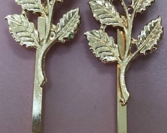 Olive Branch /  Leaves Hairpins  Barrettes Bobby Pins