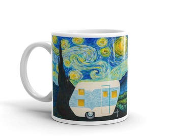 Starry, Starry Night Vintage Trailer Mug 11oz