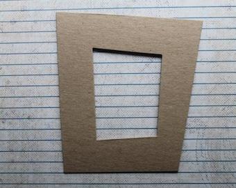 3 Bare Chipboard Funky Frame asymmetrical Die Cuts