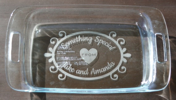 Items Similar To 3 Qt 9x13 Custom Etched Pyrex Glass
